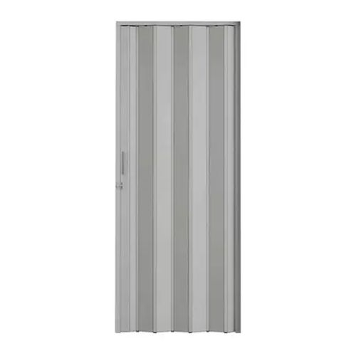 Porta Sanfonada Cinza Com Kit 80cm