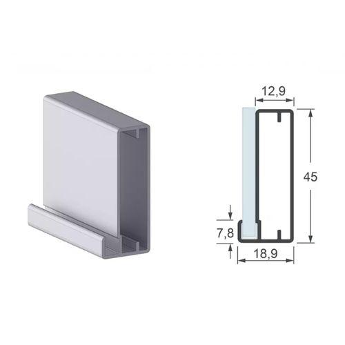 Perfil Aluminio Alternativa 3136 Com 6 Metros