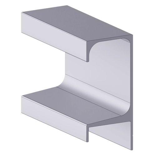 Perfil Puxador Aluminio Alternativa 5047 Com 3 Metros
