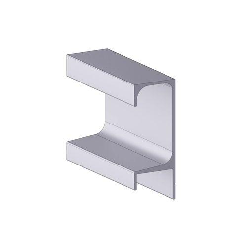 Perfil Puxador Aluminio Alternativa 5046t Preto Com 6 Metros