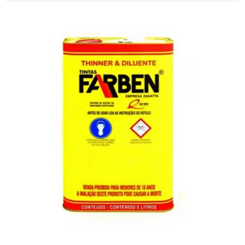 Diluente Poliuretano Farben Com 5 Litros.